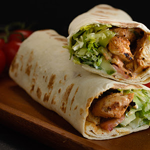 Chicken Kebab Wrap Single Indian Restaurant Bombay Diner